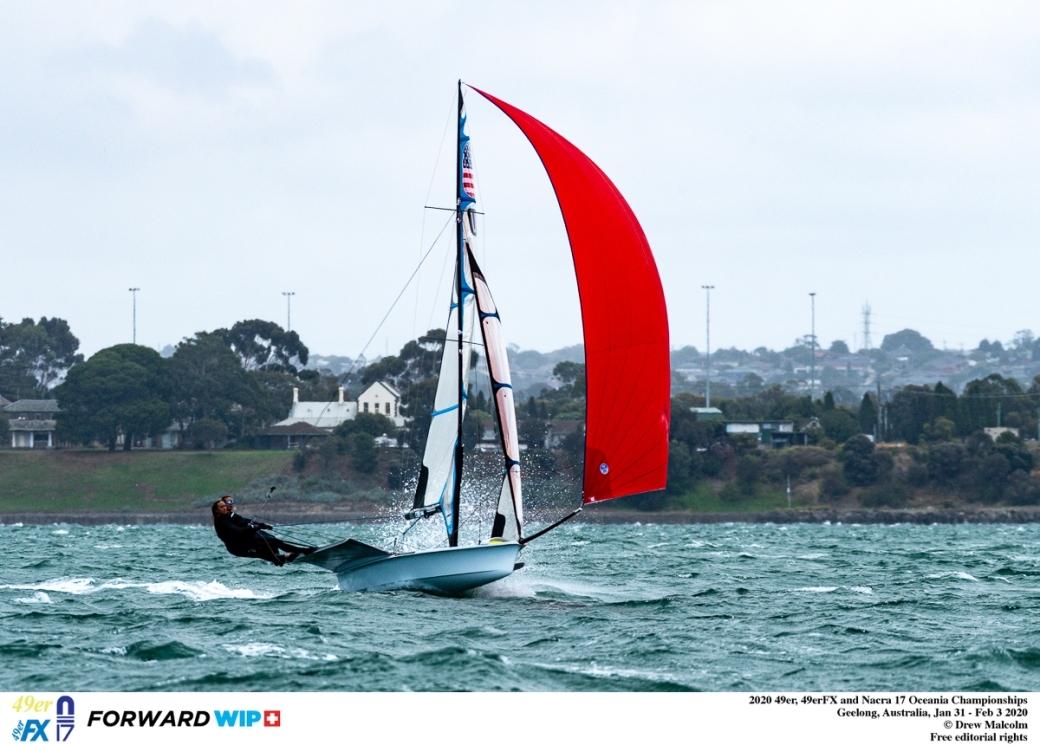 2020 49er, 49erFX and Nacra 17 Oceania Championships, Geelong Australia.